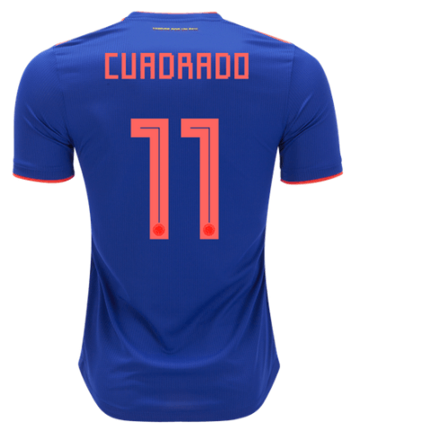low priced c3b3e bb7bc Cuadrado Colombia National Team 2018 Away Jersey