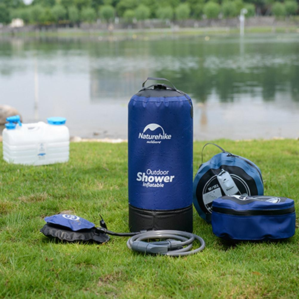 Inflatable Shower Bag for Camping - 11L