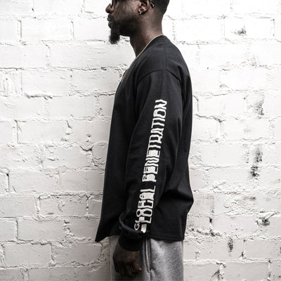GLOBAL PENETRATION L/S T-SHIRT • BLACK