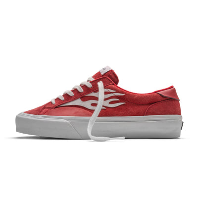 LOGAN - FLAME RED WHITE SUEDE