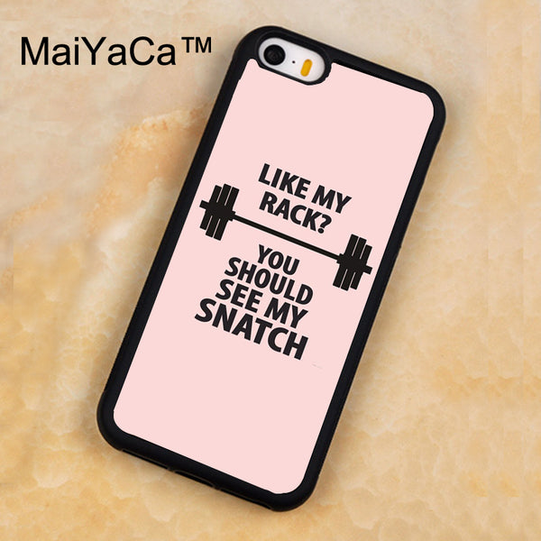 MaiYaCa Bodybuilding Gym Fitness Girly Pink Case For iPhone 5 5s SE