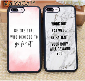 MaiYaCa Motivational Gym Fitness Quotes Soft TPU Protective Phone Case
