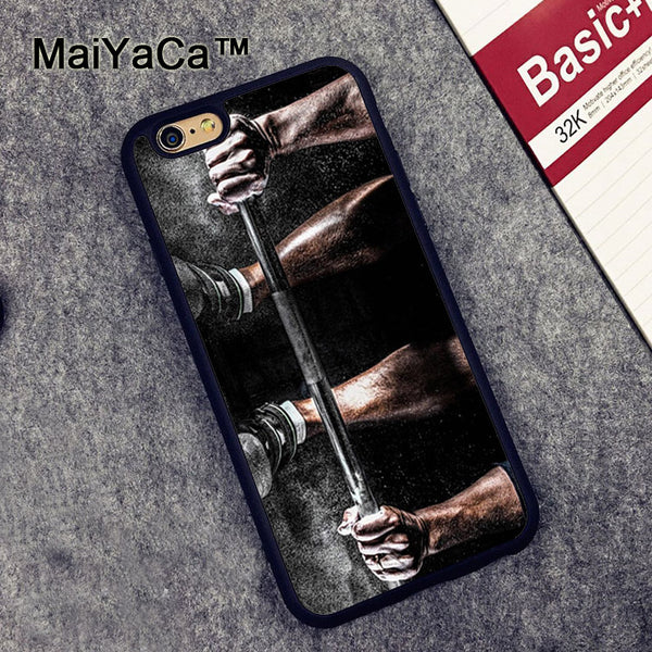 MaiYaCa Cool Gym Fitness Cross Printed Soft TPU Skin Phone Cases OEM For iPhone