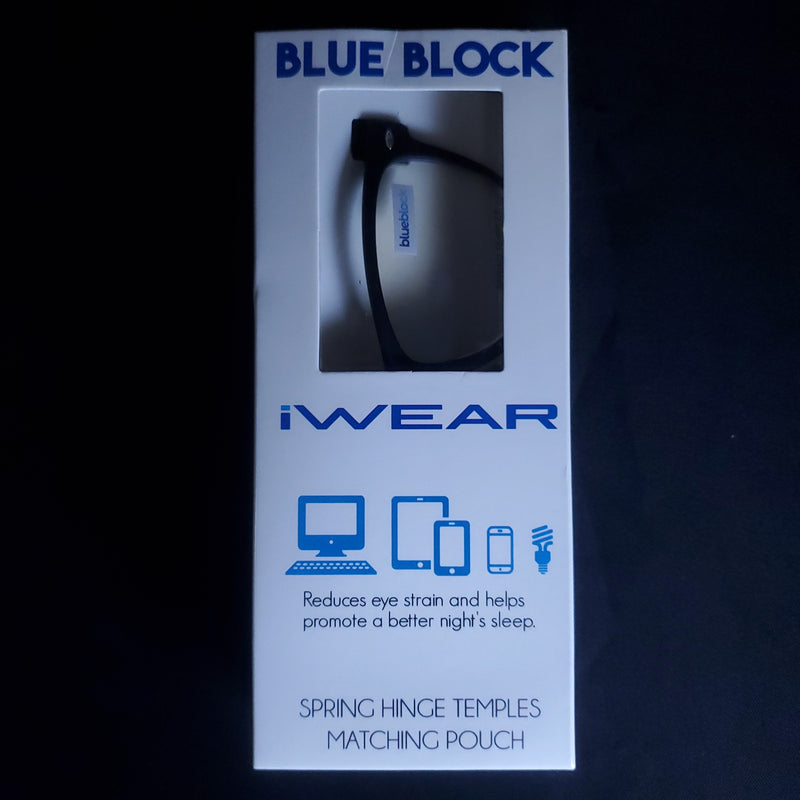 BLACK-Framed   Blue-Block Browsing Glasses