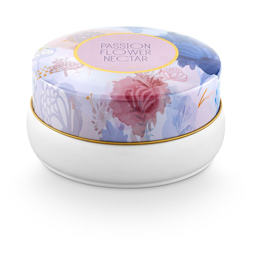 Passion Flower Nectar Bouquet Tin Candle