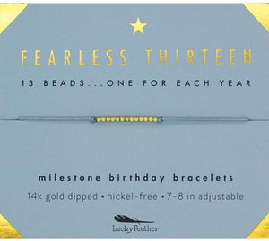 Milestone Birthday Bracelet - Fearless Thirteen
