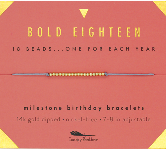 Milestone Birthday Bracelet - Bold Eighteen