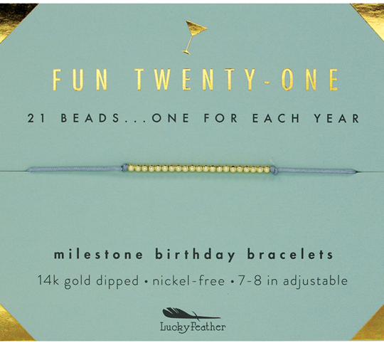 Milestone Birthday Bracelet - Fun Twenty One