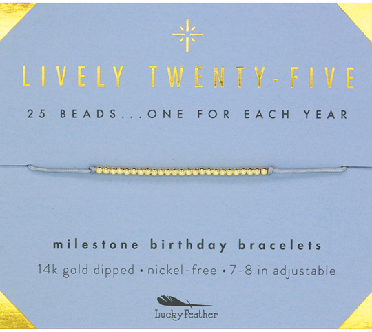 Milestone Birthday Bracelet - Lively Twenty Five
