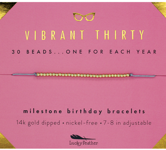 Milestone Birthday Bracelet - Vibrant Thirty