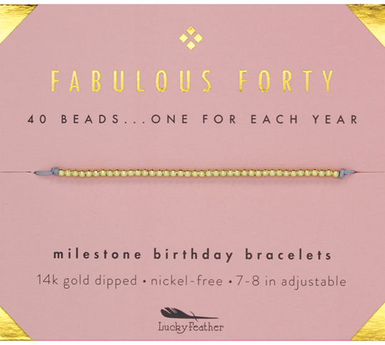 Milestone Birthday Bracelet - Fabulous Forty