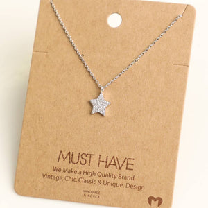 Sparkly Single Star Necklace