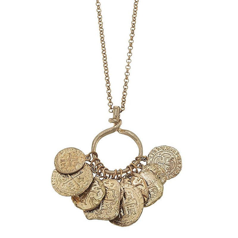 Valeria Coin Charm Necklace