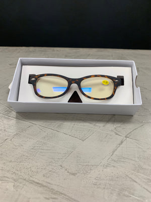 Blue Block Reading Glasses -Tortoise