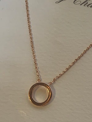 Rose Gold Tiny Ring Necklace
