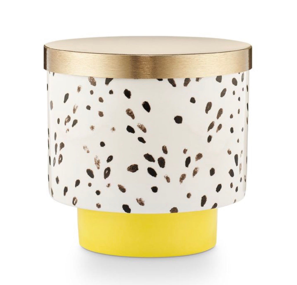Go Be Lovely Lidded Ceramic - Golden Honeysuckle Candle