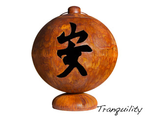 """PEACE, HAPPINESS, TRANQUILITY"" FIRE GLOBE™ (MADE IN USA)"