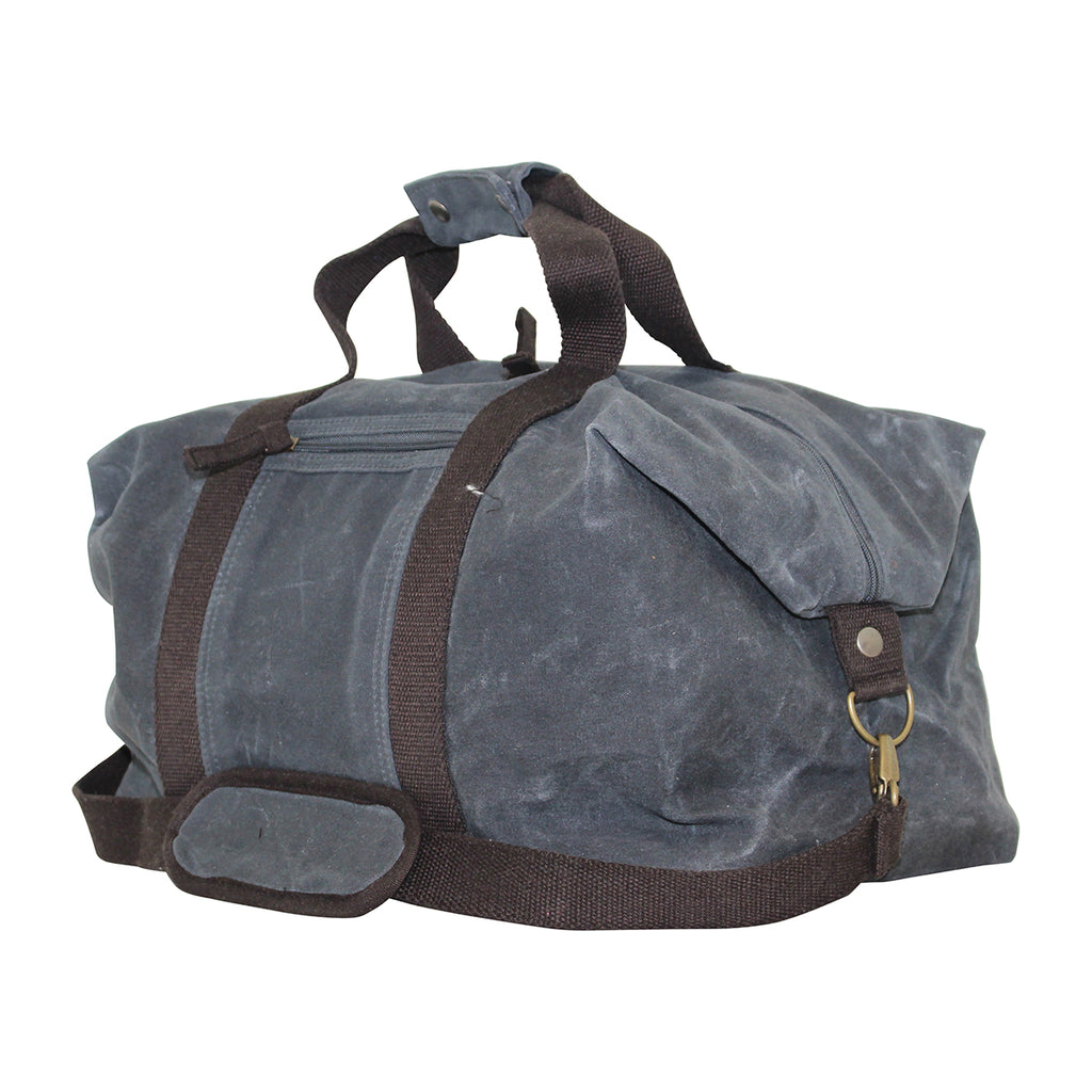 Waxed Canvas Weekender Custom Embroidered
