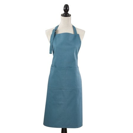 Denim Cuisine Apron w/ Pockets Custom Embroidered