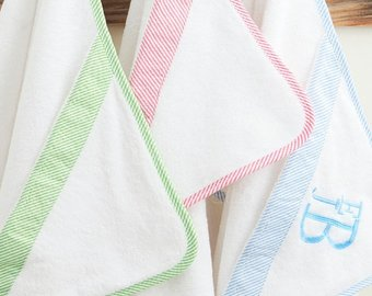 Seersucker Hooded Towel