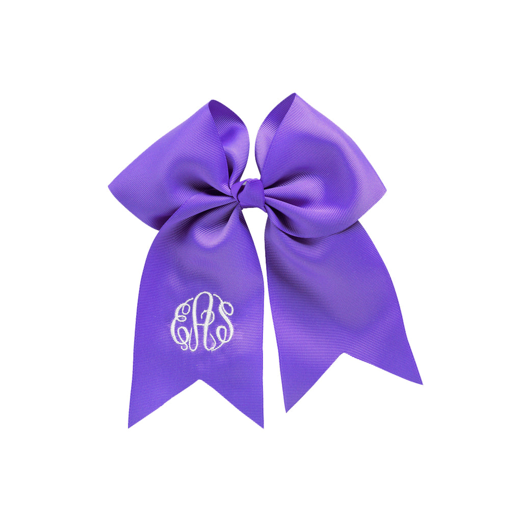 Hair Bows Custom Embroidered