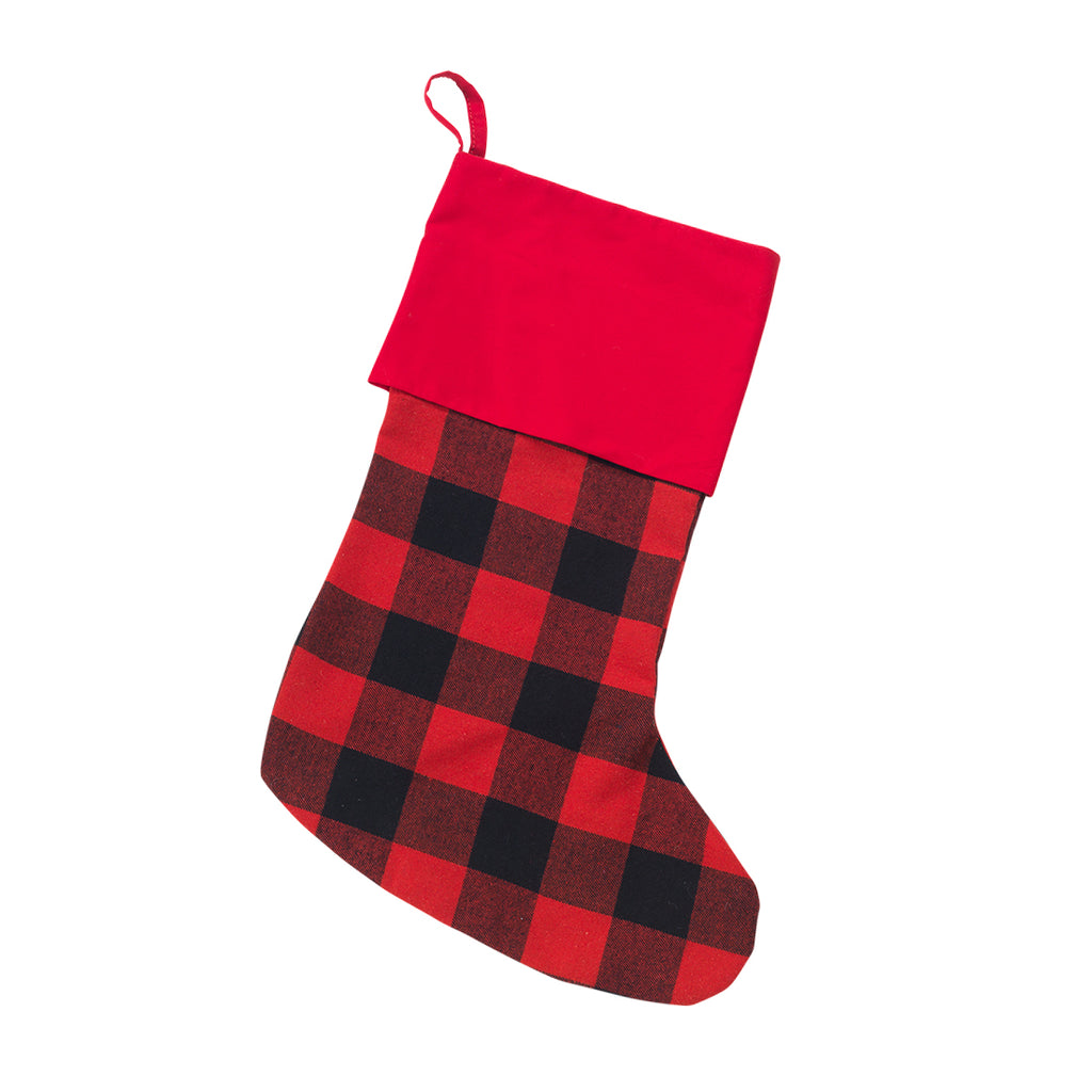 Buffalo Check Stocking Custom Embroidered