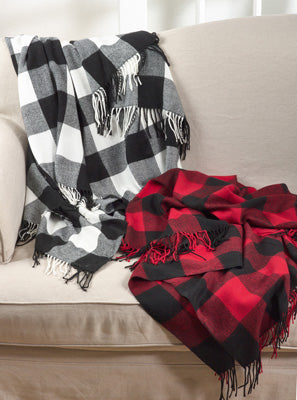 Buffalo Plaid Throw Custom Embroidered