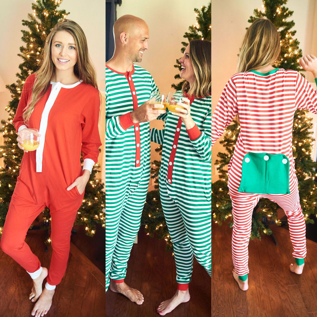 Adult Holly Jolly Jammies Custom Embroidered
