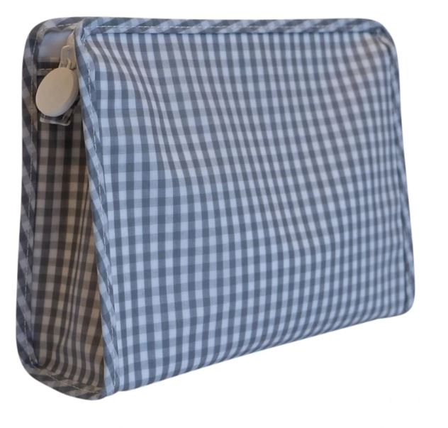 Gingham Zip Bag Large