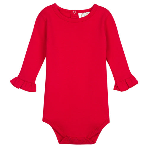 Long Sleeve Infant Bodysuit with Personalized Christmas Applique