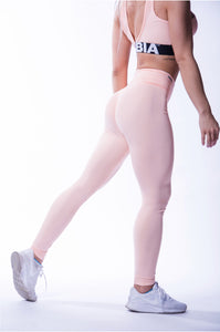 NEBBIA High Waist Scrunch Butt Leggings, Beautiful Inside Out, Salmon