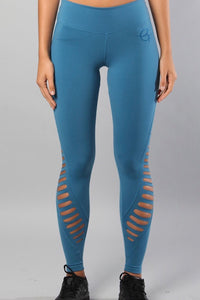 Equilibrium Laser cut leggings. DURABLE/ANTI-ABRASION WRINKLE FREE STRETCH-SHAPE RETAIN NON SHRINKING INNER COMPARTMENT HYPOALLERGENIC HARDWARE HAND MADE COMPONENTS FAST DRYING FABRIC: SUPPLEX ENHANCED OXYGENATION COMPRESSION: MEDIUM MOISTURE WICKING BREATHABLE FABRIC ANTI-ODER ANTI-MICROBIAL
