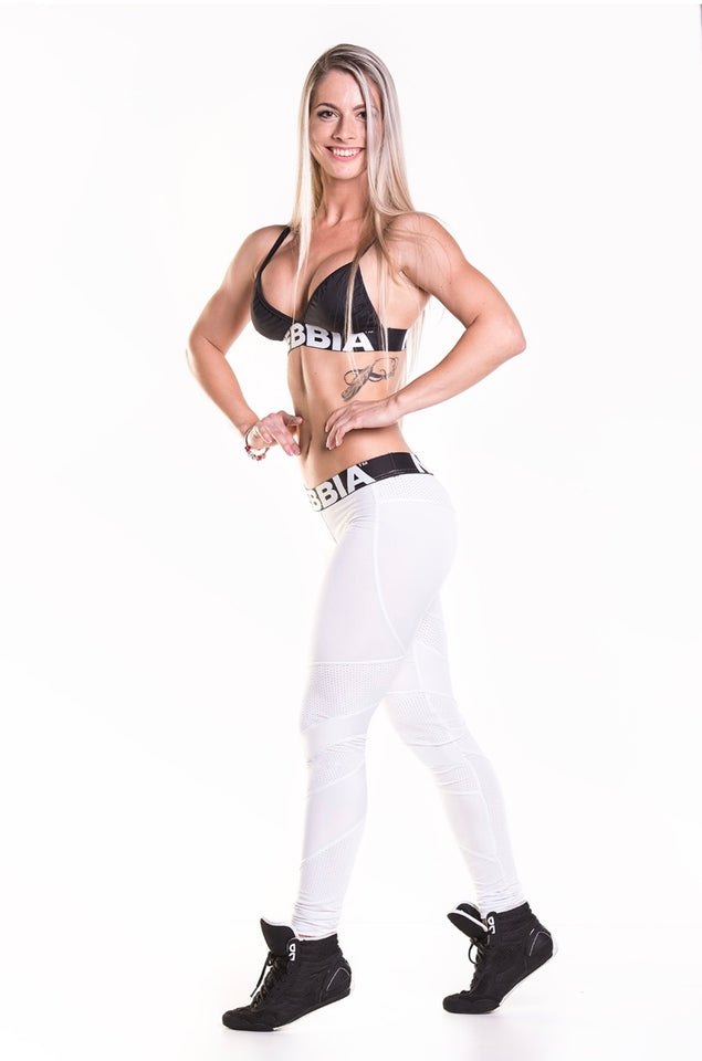 NEBBIA White Network Leggings 284