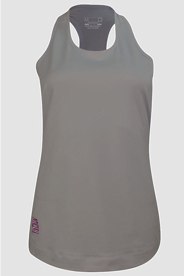 Six Deuce Grey Tank top, Long top, racer back tank top, cover up, fitwear, fitness wear, fitness apparel, athletic wear, athletic apparel, activewear for women, athleisure