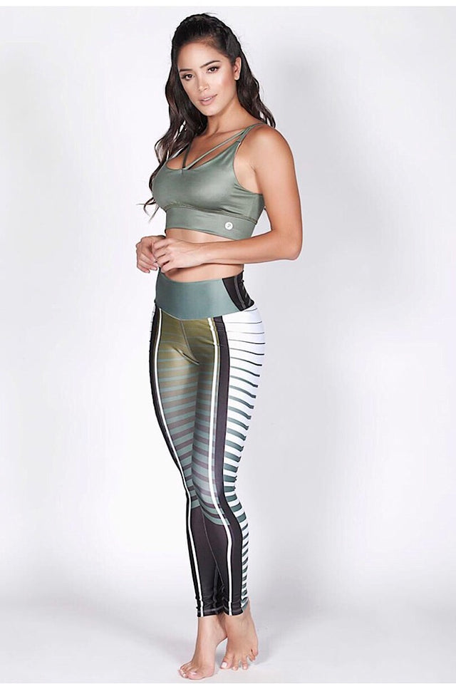 Protokolo Crazy Printed Green Leggings 2962
