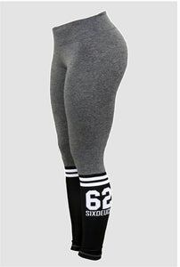 Six Deuce Sox Soft Grey Fitness Leggings, Sox leggings, Tights, yoga pants, fit wear, fitness wear, fitness apparel, athletic wear, athletic apparel, athleisure, squat proof leggings