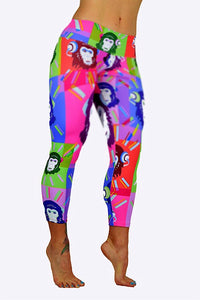 Monkeying Around Print Capris made in Columbia with 100% Supplex material. They are fully breathable, moisture wicking, Oder resistant, retain shape, drys faster than cotton. One size fits most.