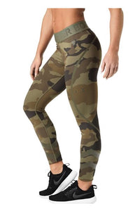 Better Bodies Dark Green Camo Chelsea Tights