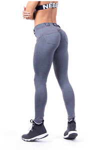 NEBBIA Bubble Butt/Scrunch Butt Grey Pants 253