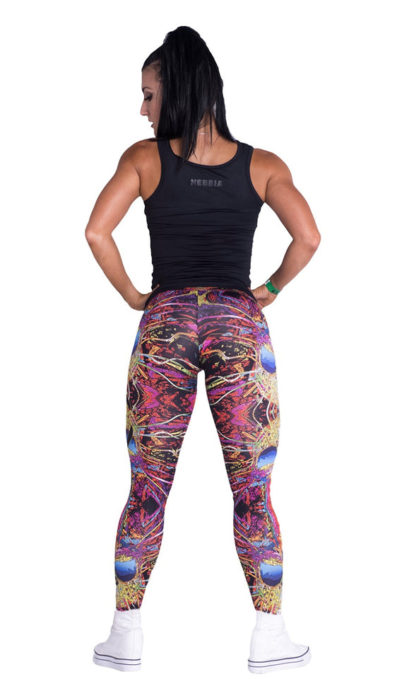 Nebbia Multi-color skull leggings