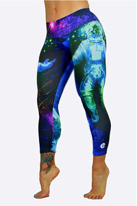 Spaceman Capris made in Columbia with 100% Supplex material. They are 100% Squatproof and fully breathable, moisture wicking, Oder resistant, retain shape, drys faster than cotton. One size fits most.