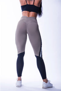 NEBBIA High Waist/Scrunch Butt Mesh Leggings, Mocha