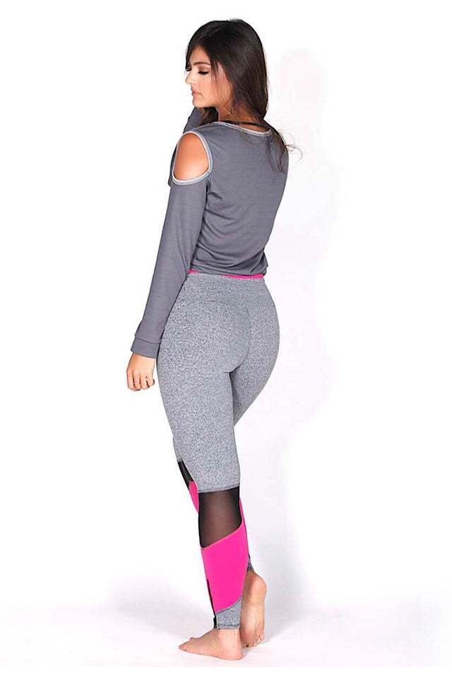 Protokolo Shoulder-less Long Sleeve Sweatshirt, grey coverup, yoga coverup, activewear for women, fitwear, fitness apparel, fitness wear, athletic wear, athletic apparel, athleisure, workout wear