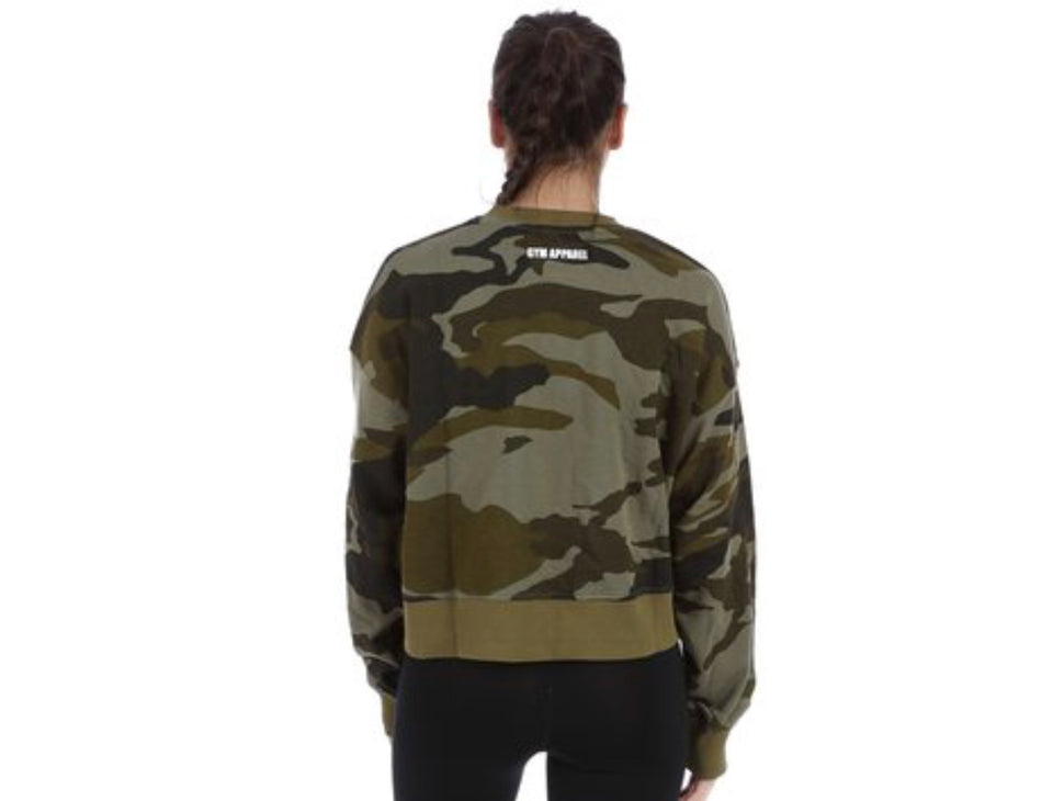 Better Bodies Chelsea Sweater, Dark Green Camo