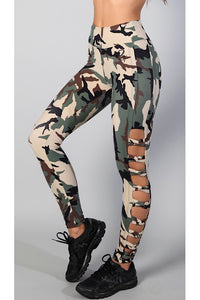 Equilibrium Camo Leggings L790. DURABLE/ANTI-ABRASION WRINKLE FREE STRETCH-SHAPE RETAIN NON SHRINKING INNER COMPARTMENT HYPOALLERGENIC HARDWARE HAND MADE COMPONENTS FAST DRYING FABRIC: SUPPLEX ENHANCED OXYGENATION COMPRESSION: MEDIUM MOISTURE WICKING BREATHABLE FABRIC ANTI-ODER ANTI-MICROBIAL Matches perfectly with Equilibrium Black Long Top LT1124!