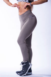 NEBBIA High Waist Scrunch Butt Leggings, Beautiful Inside Out, Mocha