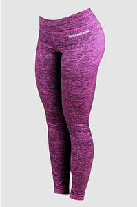 Six Deuce Pink Rough Melange Fitness Leggings, Tights, yoga pants, fit wear, fitness wear, fitness apparel, athletic wear, athletic apparel, athleisure, squat proof leggings