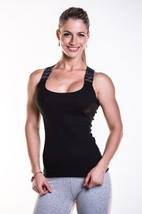 NEBBIA Black Rib Tank Top