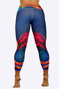 Space Flames Capris made in Columbia with 100% Supplex material. They are 100% Squatproof and fully breathable, moisture wicking, Oder resistant, retain shape, drys faster than cotton. One size fits most.