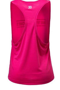 Better Bodies Hot Pink Deep Cut Tank Top